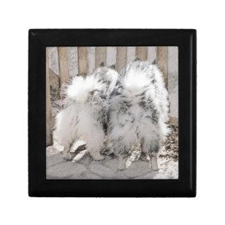 Keeshonds at the Gate Painting - Original Dog Art Gift Box
