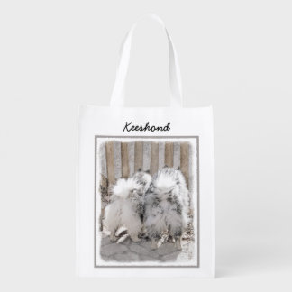 Keeshonds at the Gate Reusable Grocery Bag