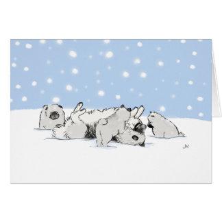 Keesies in the Snow Card