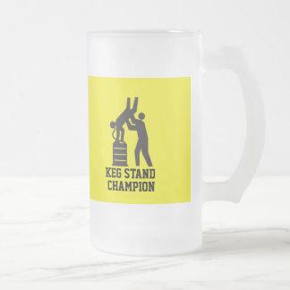 Keg Stand Champion Beer Mug