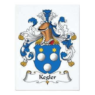 Kegler Family Crest 17 Cm X 22 Cm Invitation Card