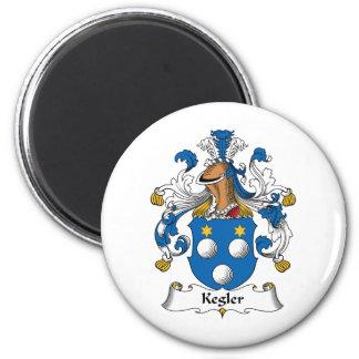 Kegler Family Crest 6 Cm Round Magnet