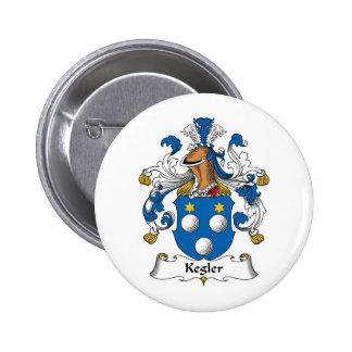 Kegler Family Crest Pins