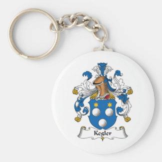 Kegler Family Crest Basic Round Button Key Ring