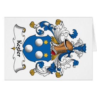 Kegler Family Crest Greeting Cards