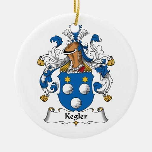 Kegler Family Crest Christmas Tree Ornament