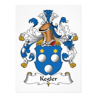 Kegler Family Crest Personalized Announcement
