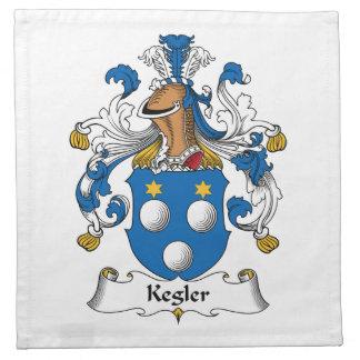 Kegler Family Crest Cloth Napkins