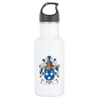 Kegler Family Crest 18oz Water Bottle