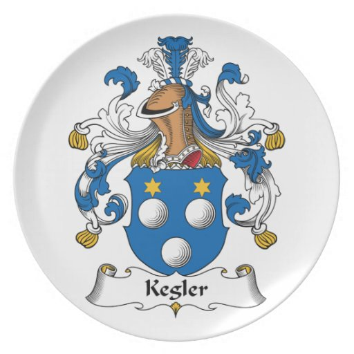 Kegler Family Crest Party Plates