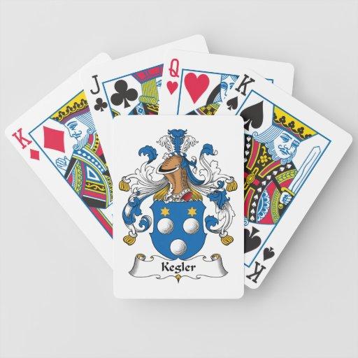 Kegler Family Crest Bicycle Poker Deck