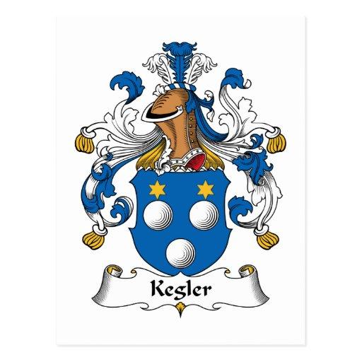 Kegler Family Crest Postcards