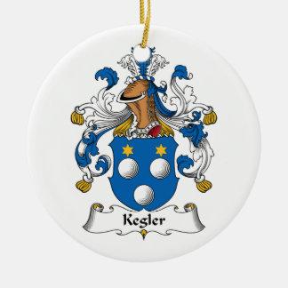 Kegler Family Crest Round Ceramic Decoration