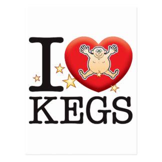 Kegs Love Man Postcard