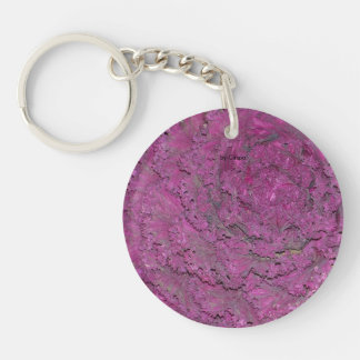Keichain with picture of a purple cabbage Double-Sided round acrylic key ring