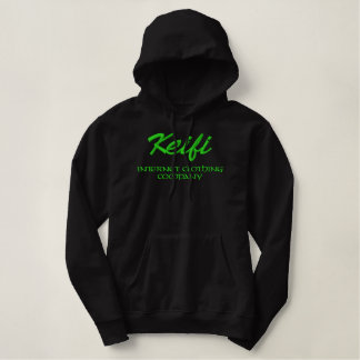 Keifi Internet Clothing Company Green Embroidered Hoodie