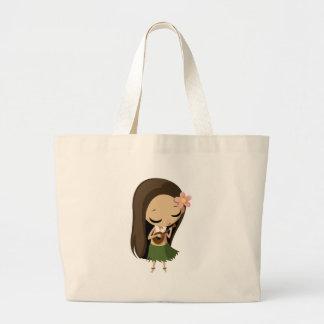 Keilana the Hula Girl Jumbo Tote Bag