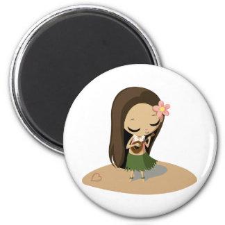 Keilana the Hula Girl Magnet