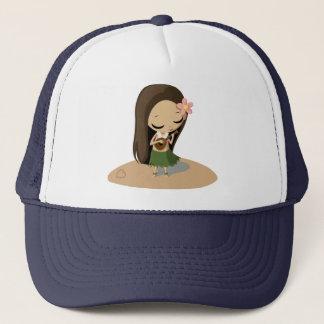 Keilana the Hula Girl Trucker Hat
