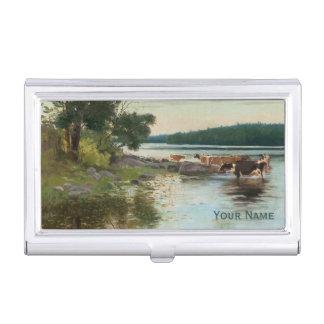Keinänen's Lake View business card holder