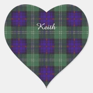 Keith clan Plaid Scottish tartan Heart Sticker