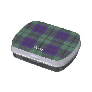 Keith clan Plaid Scottish tartan Jelly Belly Tin