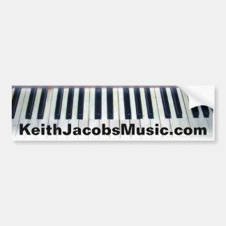 Keith Jacobs piano keys bumpersticker Bumper Sticker