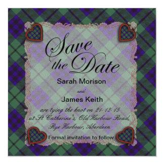 Keith Scottish clan tartan - Plaid Card