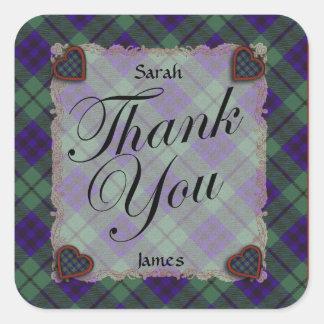 Keith Scottish clan tartan - Plaid Square Stickers