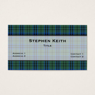 Keith Tartan Plaid Custom Business Card