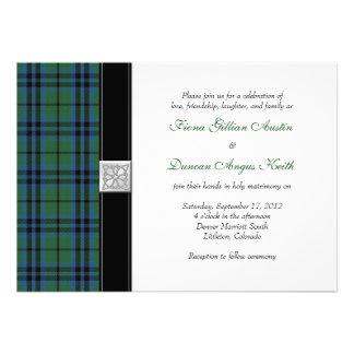 Keith Tartan Wedding Invitation