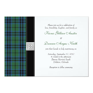 Keith Tartan Wedding Invitation