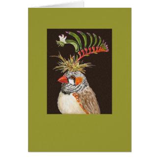 Keith zebra finch card