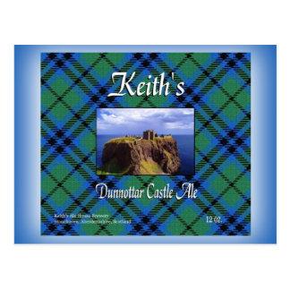 Keith's Dunnottar Castle Ale Postcard
