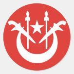 Kelantan, Malaysia flag Round Stickers