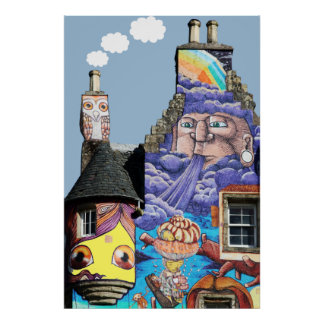 Kelburn Castle Graffiti Project Fairlie Scotland Poster