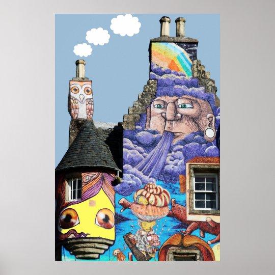 Kelburn Castle Graffiti Project Fairlie Scotland Poster