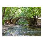 kelefos mediaeval bridge at Cyprus postcard