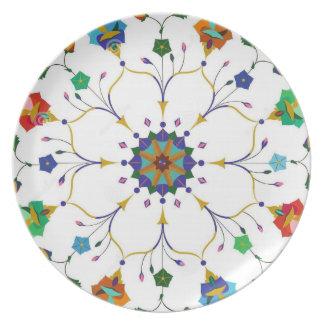 Keliedascope Flower Dinner Plate