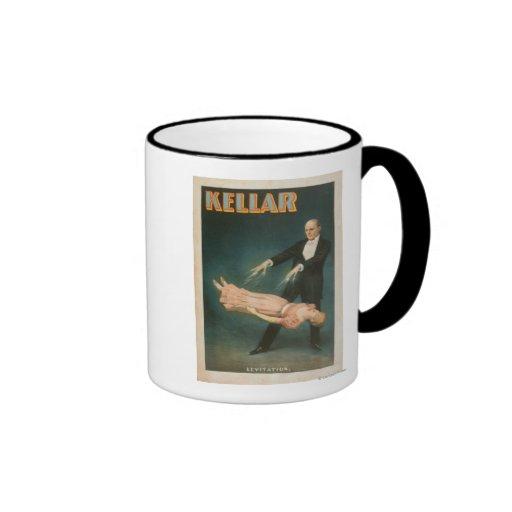 Kellar Levitation Magic Poster #1 Coffee Mugs