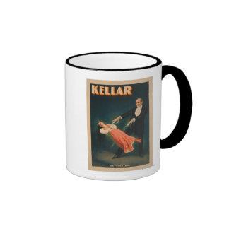 Kellar Levitation Magic Poster #2 Ringer Mug