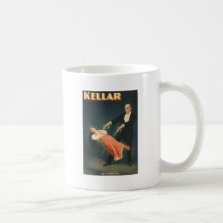 Kellar Levitation magician poster 1894 Basic White Mug