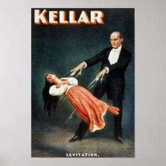 Kellar Levitation Vintage Magic Poster