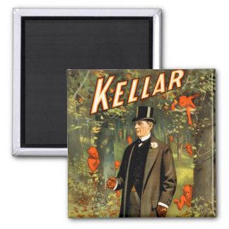 Kellar Strolls With The Spirits! Square Magnet