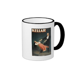 Kellar the Magician Levitation - Vintage Ad Ringer Mug