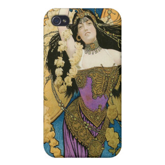 Kellar's ~ Golden Butterfly Vintage Magic Act Covers For iPhone 4