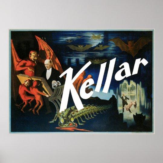 Kellar's ~ The Devil Vintage Magic Act Poster