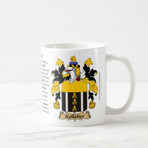 Kelleher, the Origin, the Meaning and the Crest Mugs