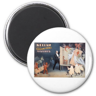 Keller and His Perplexing Cabinet Mysteries 6 Cm Round Magnet