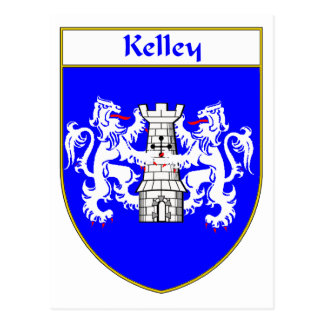 Kelley Coat of Arms/Family Crest Postcard